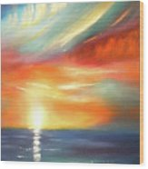 Here It Goes - Colorful Sunset Wood Print
