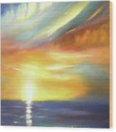 Here It Goes - Vertical Colorful Sunset Wood Print