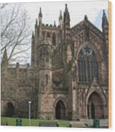 Hereford Cathedral  England Wood Print