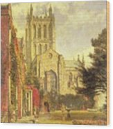 Hereford Cathedral Wood Print