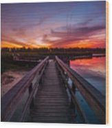Heritage Boardwalk Twilight - Square Wood Print