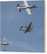 Heritage Flight Break Wood Print
