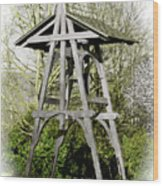 Heritage Park Bell Tower Mission Bc Canada Wood Print