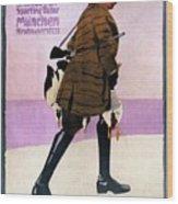 Hermann Scherrer Sporting Tailor - Munich, Germany - Vintage Advertising Poster Wood Print