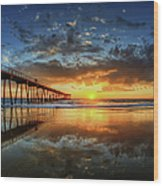 Hermosa Beach Wood Print