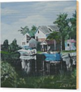 Hernando Beach Wood Print