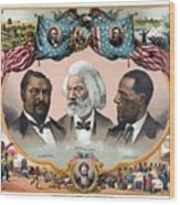 Heroes Of The Colored Race  Wood Print by War Is Hell Store