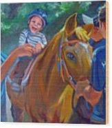 Heroes On Horseback Wood Print