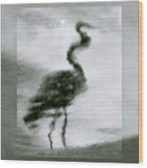 Heron De Nacht Wood Print