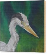Heron Painting Wood Print