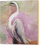 Heron Serenity Wood Print