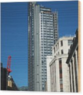Heron Tower Wood Print
