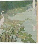 Herons In Summer Wood Print