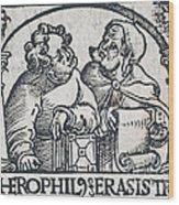 Herophilos, Erasistratus, Ancient Greek Wood Print