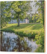 Herrevads Kloster By The Riverside Wood Print
