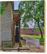 Herr's Mill And Covered Bridge 2 Wood Print