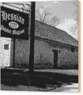 Hessian Powder Magazine Wood Print