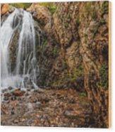Heughs Falls Wood Print