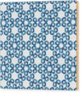 Hexagonal Snowflake Pattern Wood Print