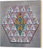 Hexagonia 3 Wood Print