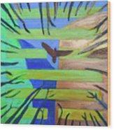 Hexagram-57-xun-penetrating-wind- Wood Print
