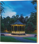 Hexham Bandstand At Night Wood Print