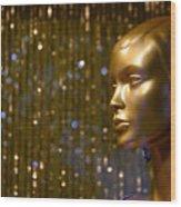 Hey Gold Looking Wood Print