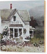 Heyl House, Minneapolis, Kansas Wood Print
