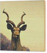 Hi, I Am Kudu Wood Print
