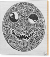 Hi, Smiley Wood Print