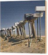 Hi-way 41 Mailboxes Wood Print