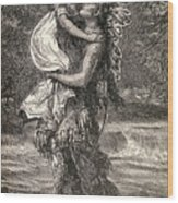Hiawatha And Minnehaha Wood Print by Unknown