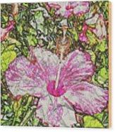 Hibiscus 101516 1a Wood Print