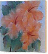 Hibiscus Delight Wood Print