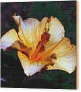 Hibiscus Heat Wood Print