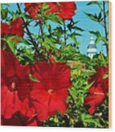 Hibiscus In Naptown Wood Print