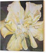 Hibiscus Jaune Wood Print