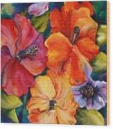 Hibiscus mini Wood Print