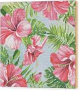 Hibiscus Paradise-jp3965 Wood Print