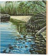 Hidden Beach Wood Print