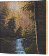 Hidden Brook Wood Print