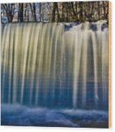 Hidden Falls Morning Glow Wood Print