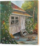Hidden Garden Wood Print