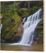 Hidden Hocking Hills Waterfall Ohio Wood Print