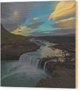 Hidden Icelandic Waterfall Wood Print