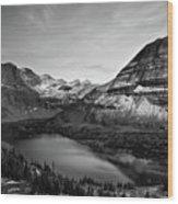 Hidden Lake Wood Print by Jesse Estes