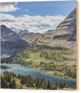Hidden Lake Overlook Wood Print