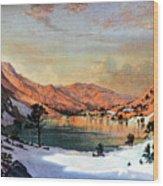 Hidden Lake Western United States Wood Print