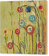 Hidden Poppies Wood Print by Jennifer Lommers