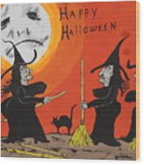 Hide The Halloween Candy Wood Print